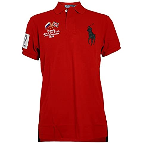 RALPH LAUREN Hombre Diseñador Polo Shirt Camisetas - RUSSIA BIG PONY -
