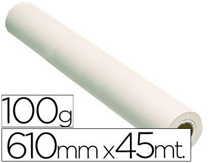 GRAFIC REPROGRAFIA CARTA 100 GRS. PER PLOTTER-PAPEL PATINATA BIANCO OPACO 45 X 610 MTS. 1440 DPI
