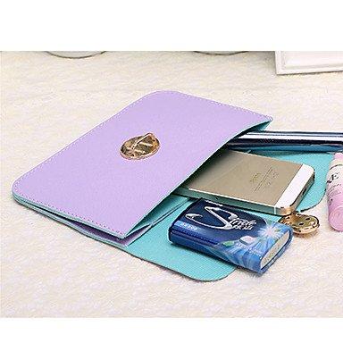 SUNNY KEY-Borsa a tracolla @ Donna Borsa a tracolla PU (Poliuretano) Per tutte le stagioni Casual A scatto Rosa Beige Blu marino Fucsia Viola chiaro , blue navy blue