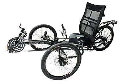 Liegerad EZ-Tad CX für Erwachsene, mit Komfort-Sitz, 130 kg Tragfähigkeit, 27-Gang Schaltung, 20 Zoll Reifen, Trike / Tadpole / Dreirad / Fahrrad
