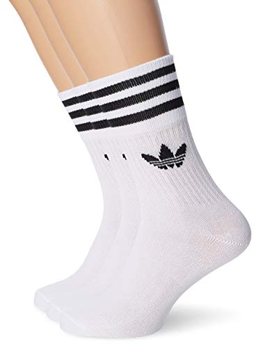 adidas MID Cut CRW SCK Socks, White/Black, 3942
