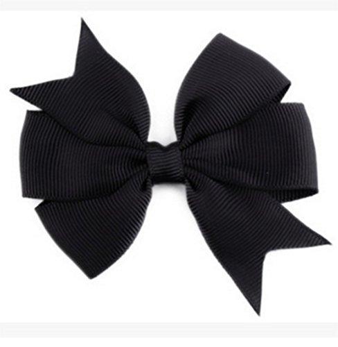 Demarkt Niedlich Schleife Haarclips / Haarspangen Haarschmuck Ribbon Haar-Clips Für Mädchen,Schwarz