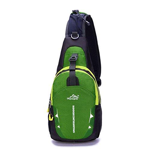 FFZH Petto di sacchetto di nylon impermeabile per uomini e donne, sport all'aria aperta e per il tempo libero pacchetti petto Pack , orange green