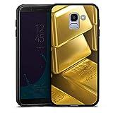 DeinDesign Samsung Galaxy J6 2018 Silikon Hülle Case Schutzhülle Goldbarren Gold Barren