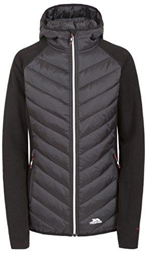 Trespass Boardwalk, Black, XL, Warme Fleecejacke mit Kapuze 300g/m² für Damen, X-Large, Schwarz Edge-zip Fleece