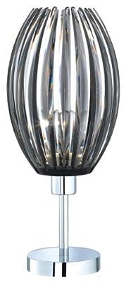 Trio-Leuchten 504000142 Tischleuchte, 1x E27, max. 60 W, Nickel matt, Acrylstäbe smoke von Trio Leuchten auf Lampenhans.de