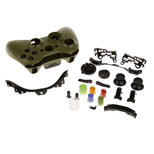 Sharplace Schutz Hülle Gehäuse Set Für Xbox 360 Controller - Armee-Grün, One Size