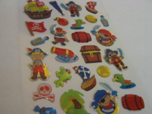 Piraten Aufkleber Kinder / Kinder Etiketten für party taschen , scrap bücher , karten herstellung oder notizbuch dekoration