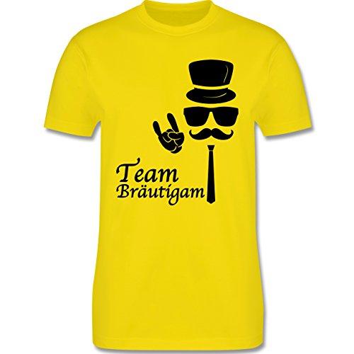JGA Junggesellenabschied - Team Bräutigam Hipster Suit up - Herren Premium T-Shirt Lemon Gelb