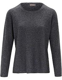 include Damen Rundhals-Pullover Basic-Rundhals-Pullover Rippenabschlüsse 98fd5bc3d3