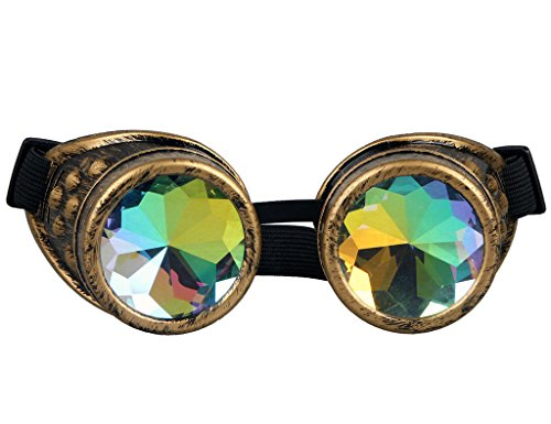 illen von Zaiqun mit buntem Objektiv, geschweißte Gläser aus Kupfer und Messing, messing (Halloween Kostüme Objektive)