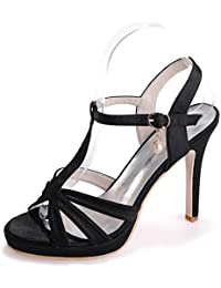 Elegant High shoes5915-18 Sandali da Donna da Donna/Buckle Nights Office & Career Fine Heels, blu, 41