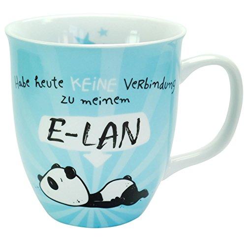 Hope und Gloria 45672 Tasse mit Panda-Motiv E-LAN, Kaffee-Tasse mit Innen-Druck, Porzellan, 40 cl,...