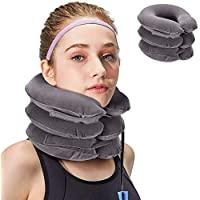 SHOPMENT Neck Traction Device Effective And Fast Relief Neck Pain Inflatable Neck Stretcher Collar Device