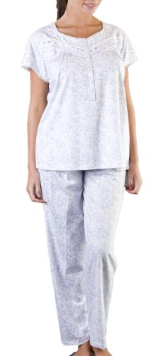 Socks Uwear - Ensemble de pyjama -  - Ensemble pyjama - À fleurs Femme Bleu - Bleu