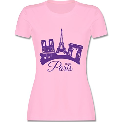 ris Frankreich France - M - Rosa - L191 - Damen Tshirt und Frauen T-Shirt ()