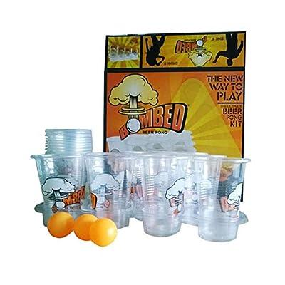 Ensemble Complet Gobelet Plastique Beer Pong, Gobelet Plastique Fete, Beer Pong, Idéal pour Jeu Américain de Beer Pong pour Soirée et Fête de Noël