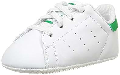 adidas Stan Smith Crib, Scarpine Primi Passi Unisex – Bimbi 0-24, Bianco (Ftwr White/Ftwr White/Green), 16