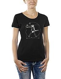Touchlines Damen T-Shirt Da Vinci Rock Guitar Girlie