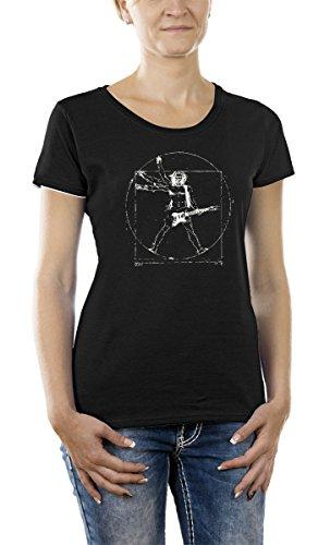 Touchlines Damen T-Shirt Da Vinci Rock Guitar Girlie, Black, XXL, B210513GT Preisvergleich