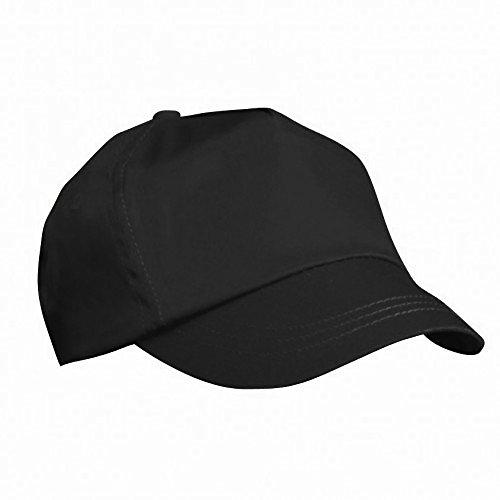 RESULT Unisex Kinder Baseball Kappe, einfarbig (Einheitsgröße) (Schwarz)