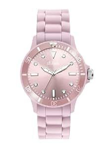 s.Oliver Damen-Armbanduhr Silikon rosa SO-2288-PQ