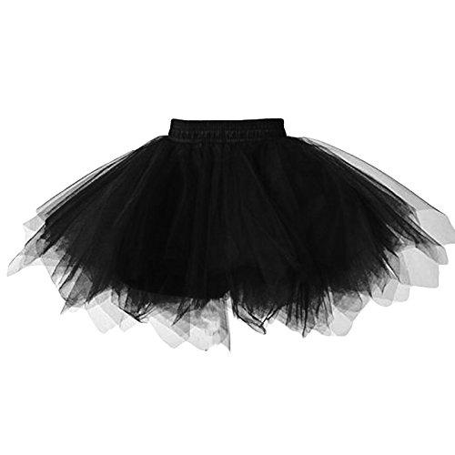 449ff7db3 Feoya Niñas Falda de Tul Tutú Clásica de Ballet para Disfraz Halloween.