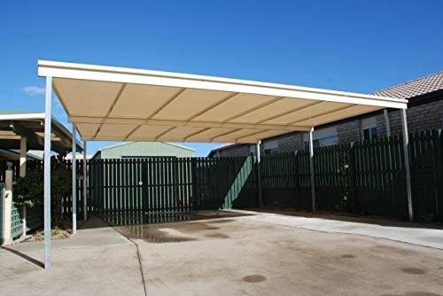 E.enjoy Sichtschutznetz Beige 90{f35425c38405a9ca07fb06ddddc5b0ea94077572fce094b88aed7f23749b0c2a} Sunblock Shade Tuch for Gewächshaus Pflanze Auto Dach Scheune Zwinger Abdeckung, Anti-UV-Garten Pergola Belüftung durchlässig (Size : 400cmX600cm)