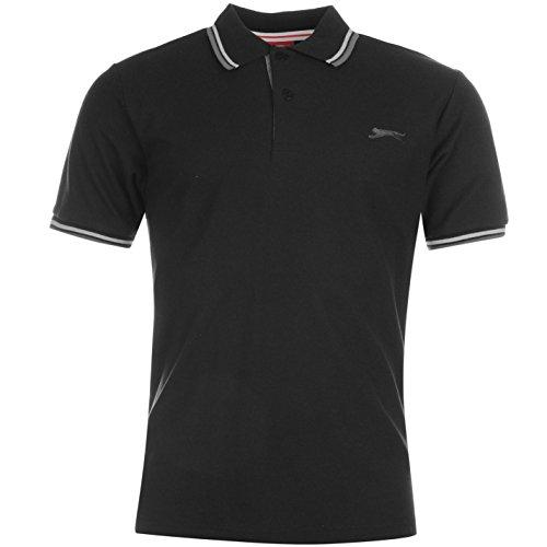 Slazenger Tipped Herren Polo Poloshirt T Shirt Kurzarm Classic Fit Tee Top XXXXL
