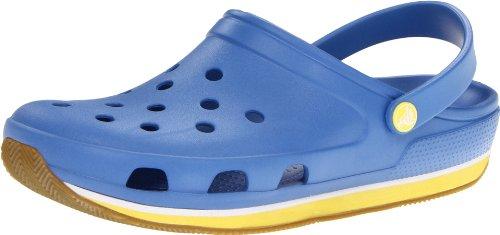 Crocs Retro Entupir Unisex-erwachsene Tamancos Blau (azul Do Time Do Colégio / Estourar)