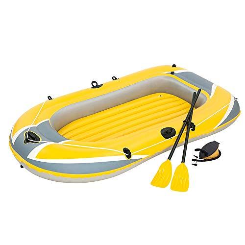 Kanqingqing Kajak Beiboot Kajak Leder Boot Triple Thick Schlauchboot Luftkissenfahrzeug Double Inflatable Assault Boat/Gelb (Farbe : Gelb, Größe : 228x121cm)