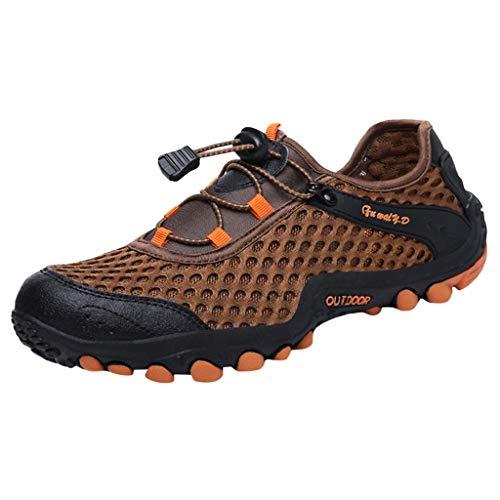 CUTUDE Herren Damen Sommer Sneaker Tauchschuhe Schnorchelschuhe Geschwindigkeitsstörung Wasser Stromaufwärts Schuhe Outdoor Strandschuhe Schwimmen (Braun, 42 EU) -
