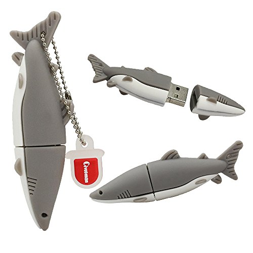 32 GB Flashdrive Grey Pendrive Shark Fisch USB Flash Drive Memory Thumb Stick