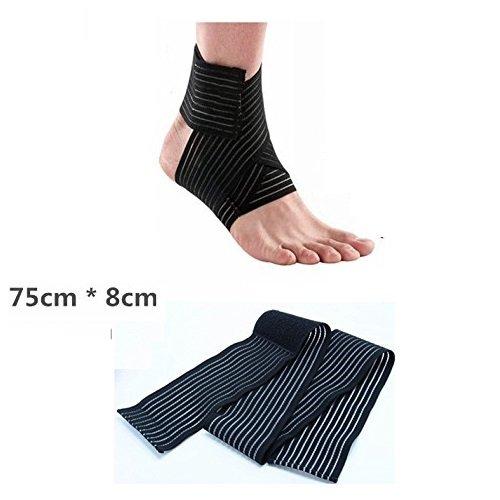 EQLEF®1 pezzo elastico traspirante caviglia polso di sostegno del gomito Wrap Bandage Brace con velcro cinghie
