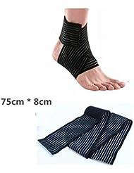EQLEF® 1 PC elástico transpirable tobillo muñeca CODERA Wrap vendaje Brace con las correas del Velcro