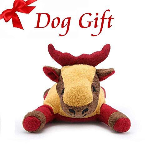Pro Goleem weihnachten hundespielzeug Plüsch Quietschspielzeug stofftier hunde spielzeug (Elch)