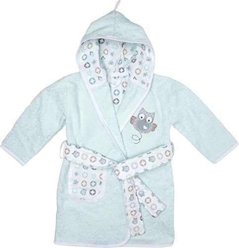Bébé-Jou Owl Family - Albornoz con capucha y cinturón, 18-24 meses, color...