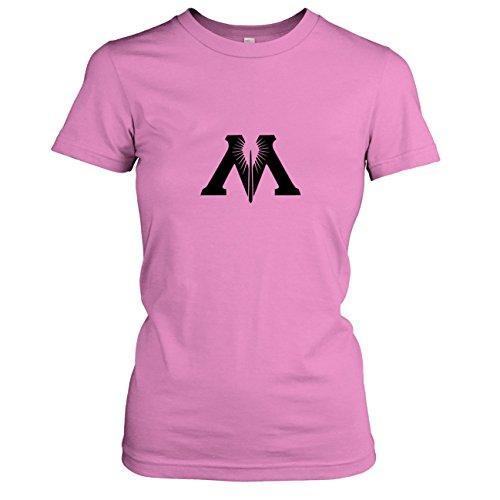 TEXLAB - Zauberministerium - Damen T-Shirt, Größe XL, rosa