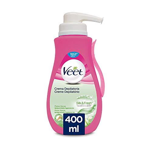 Veet Crema Depilatoria - con Dosificador, Piel Normal y Seca-400ml