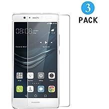 3 Unidades Huawei P9 Protector de Pantalla, WEOFUN Cristal Templado para Huawei P9 Vidrio Templado Protector [0.33mm, 9H Dureza, Alta Transparencia]
