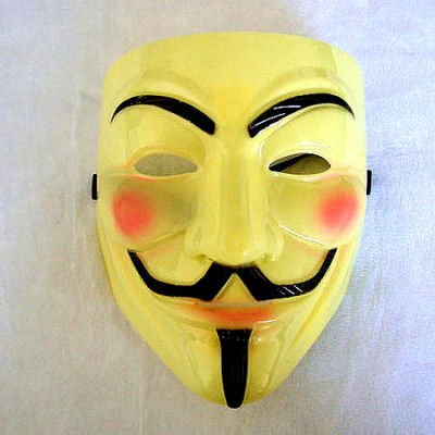 V Per Vendetta maschera V per Vendetta Maschera Anonymous Replika, anti demo