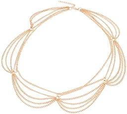 Young & Forever Wardrobe Refresh Elite Gold Multilayer Chain Headgear Tassel Tiaras for Women(Gold) - HA90101-N