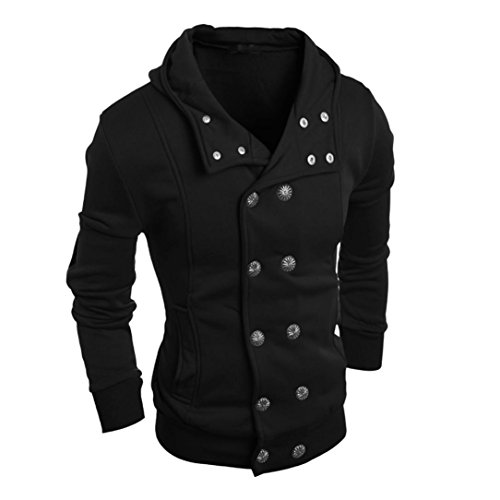 FEITONG TOP moda delgada para hombre Algodón Diseñado capa de la chaqueta de solapa Cardigan (M,