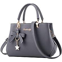 da204c4c98de9 YAANCUN Damen Handtaschen Groß Taschen Leder Moderne Handtasche Gross  Schultertasche Frauen Umhängetasche