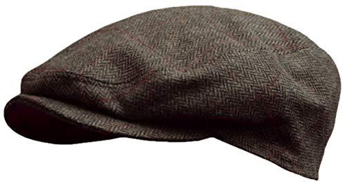 Schirmmütze Herringbone fine in anthrazit oder braun by Balke (57, braun)