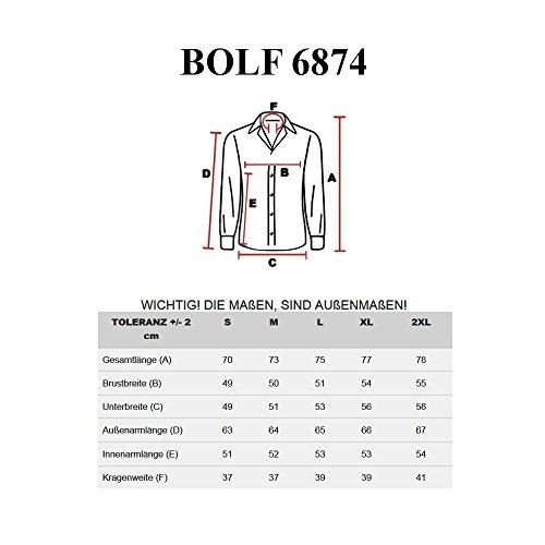 BOLF– Chemise casual – manches longues – BOLF 6874 - Homme Noir
