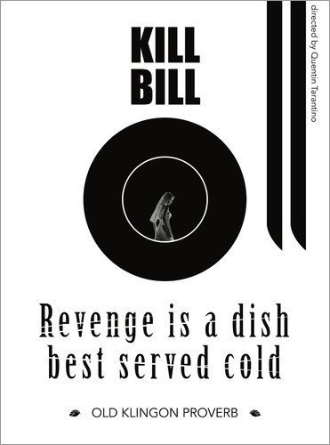 Poster 30 x 40 cm: Kill Bill Film - Quentin Tarantino von Dear Dear - Hochwertiger Kunstdruck, Kunstposter
