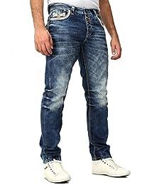 Cipo Baxx Homme Jeans Brodé Coutures décoratives
