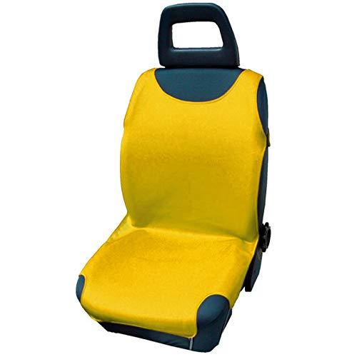 4U-Onlinehandel 2er-Set Autositzbezug Shirt Cover, gelb