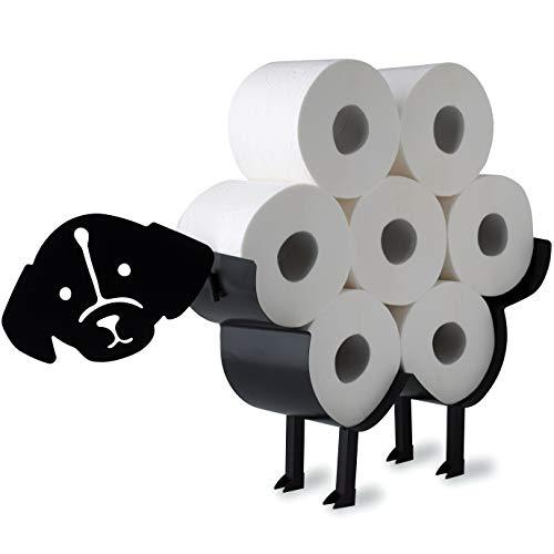 WRPS Design Toilettenpapier-Halter Black Dog Schwarzer Hund -